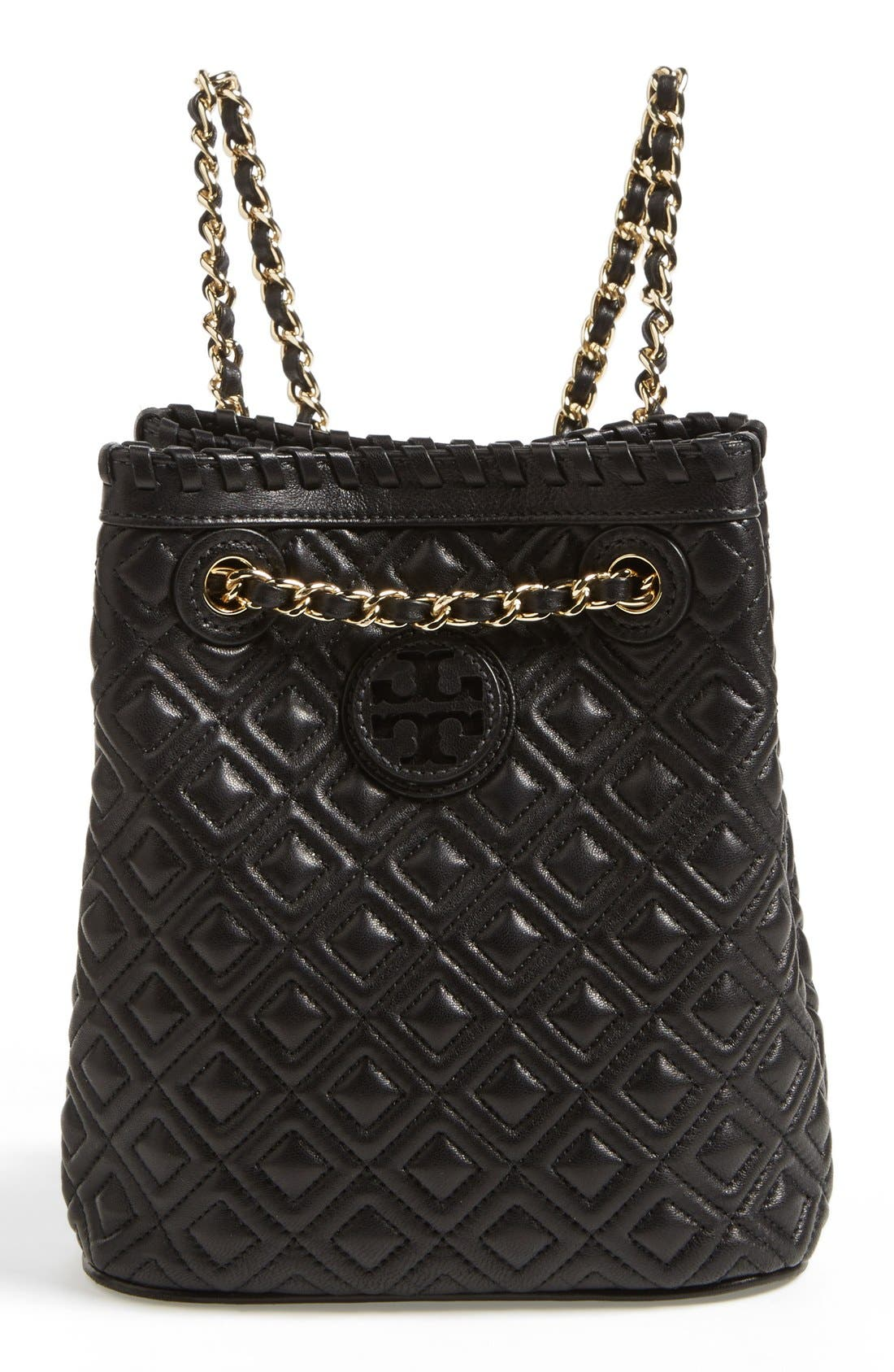 Main Image - Tory Burch 'Small Marion' Quilted Leather Backpack