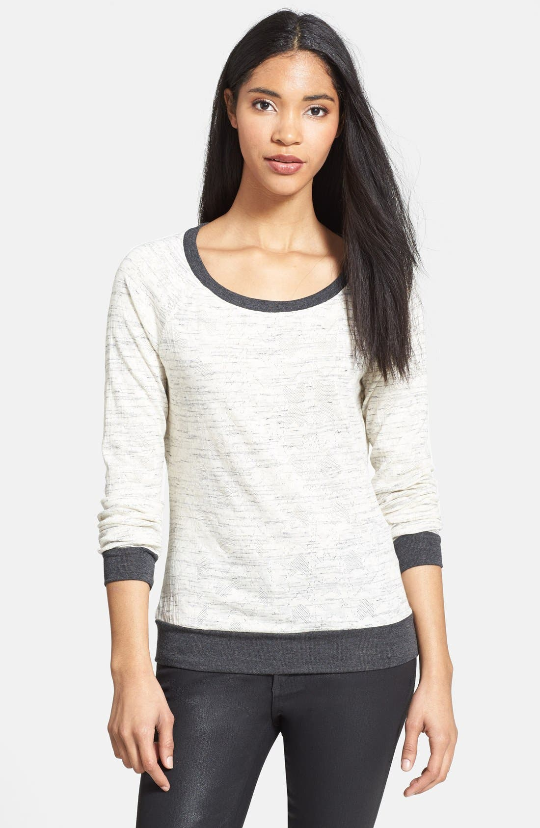 Alternate Image 1 Selected - Three Dots Pleat Back Sweater