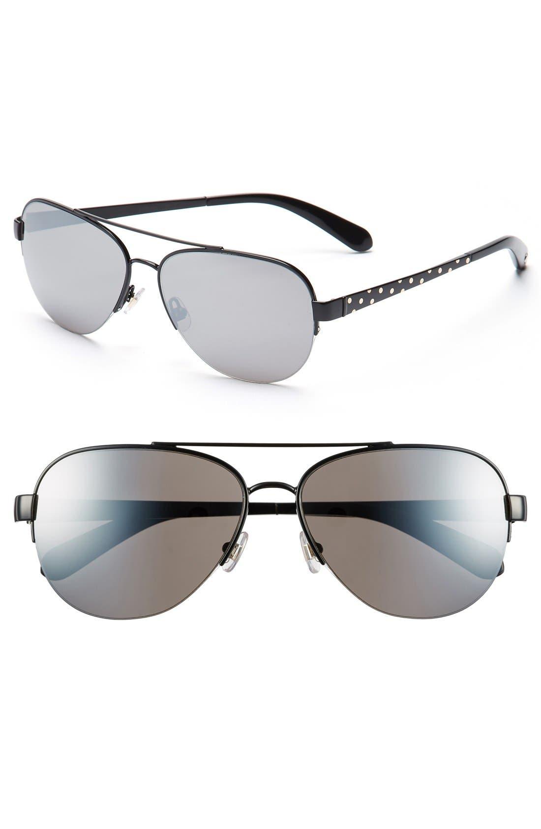 Alternate Image 1 Selected - kate spade new york 57mm aviator sunglasses