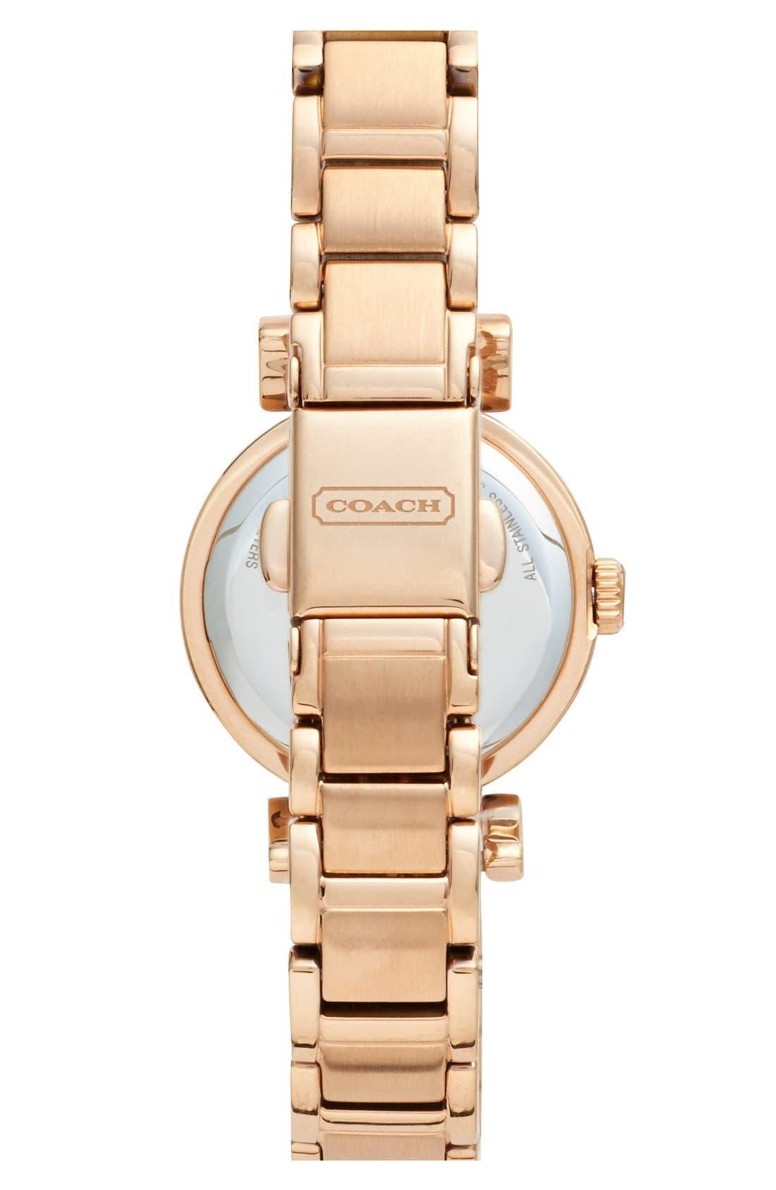 Alternate Image 2  - COACH 'Madison' Crystal Bezel Bracelet Watch, 24mm