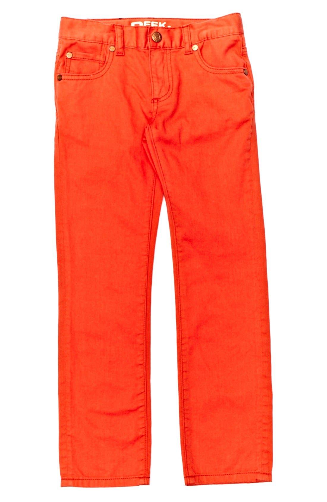 Alternate Image 1 Selected - Peek 'Slouch' Twill Jeans (Toddler Boys, Little Boys & Big Boys)