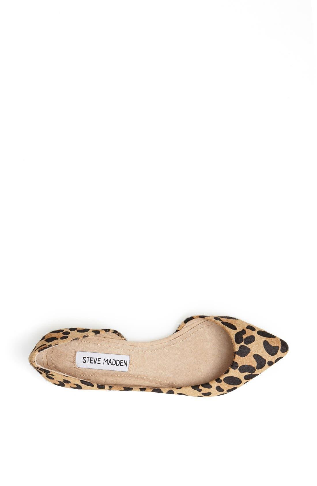 Alternate Image 3  - Steve Madden 'Elusion' Leopard Print Calf Hair Half d'Orsay Flat