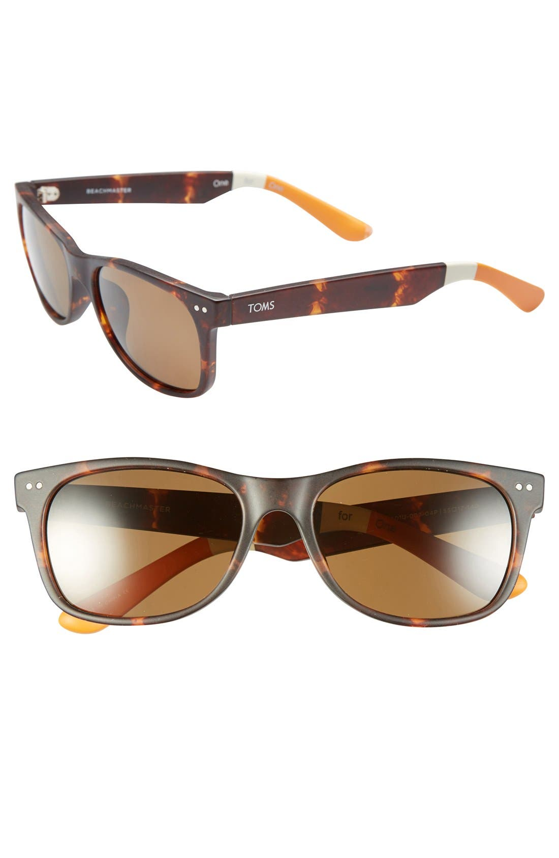 Alternate Image 1 Selected - TOMS 'Beachmaster' 55mm Polarized Sunglasses