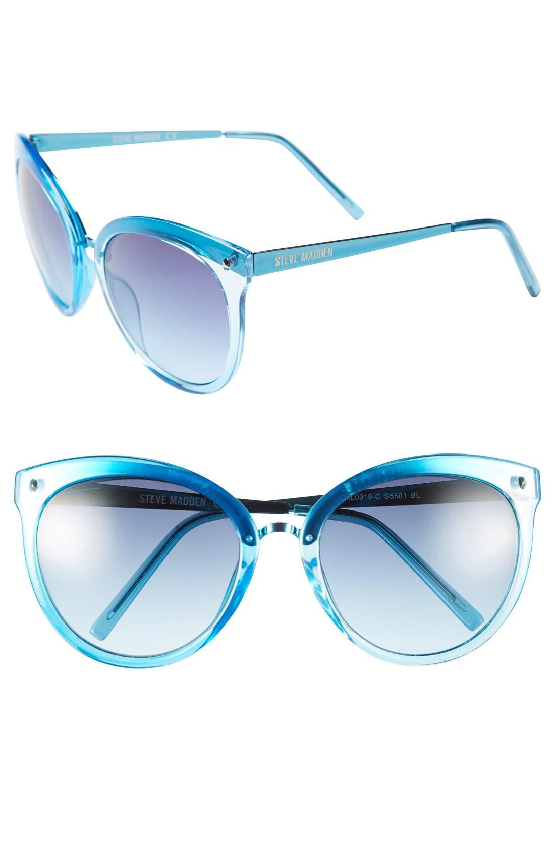 Main Image - Steve Madden 57mm Cat Eye Sunglasses