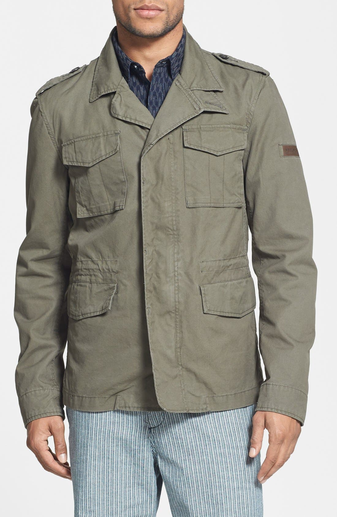 Alternate Image 1 Selected - Woolrich 'M43' Waxed Cotton Field Jacket