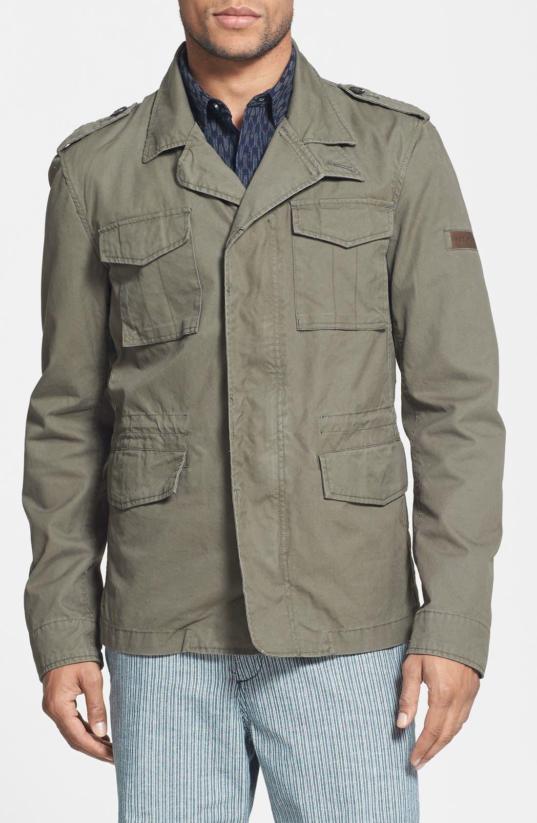 Main Image - Woolrich 'M43' Waxed Cotton Field Jacket