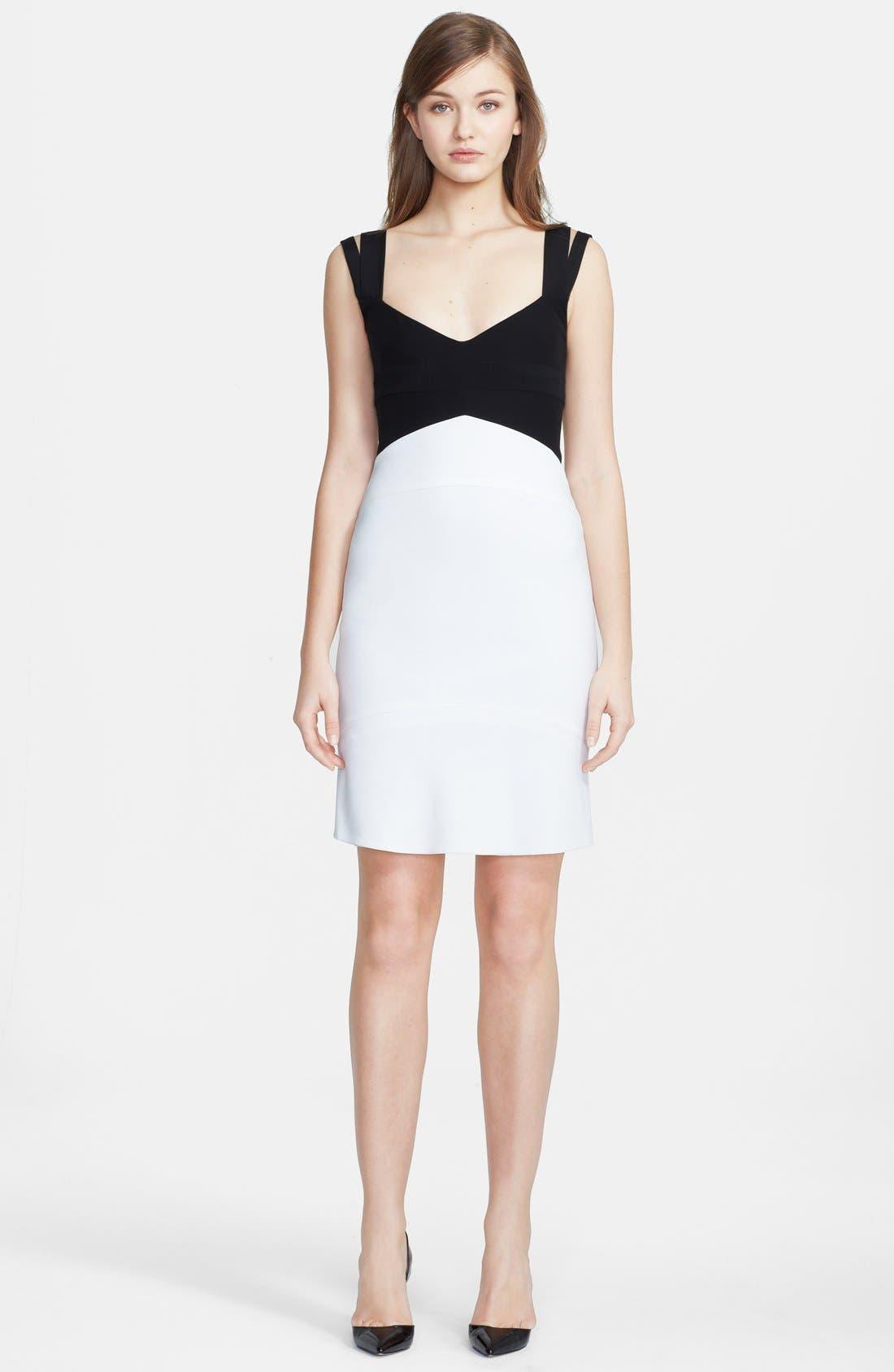 Main Image - Narciso Rodriguez Colorblock Crepe Sheath Dress