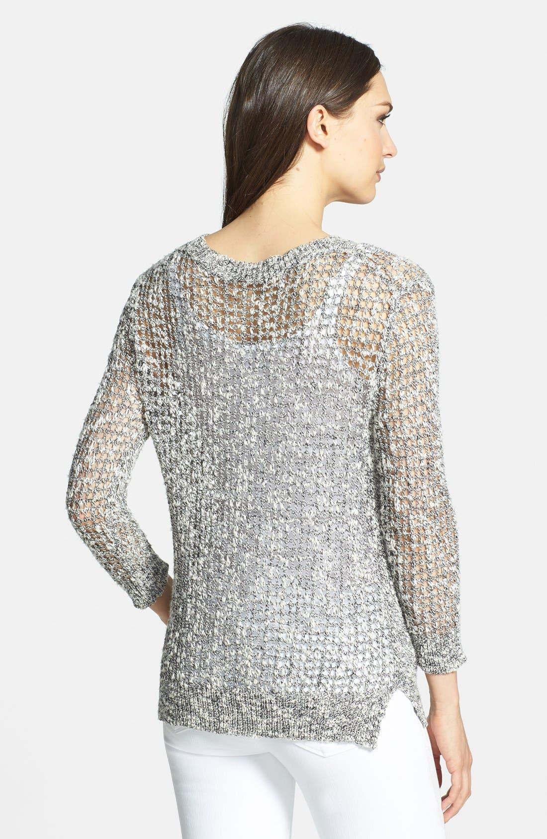 Alternate Image 2  - Theory 'Rainee' Open Knit Sweater
