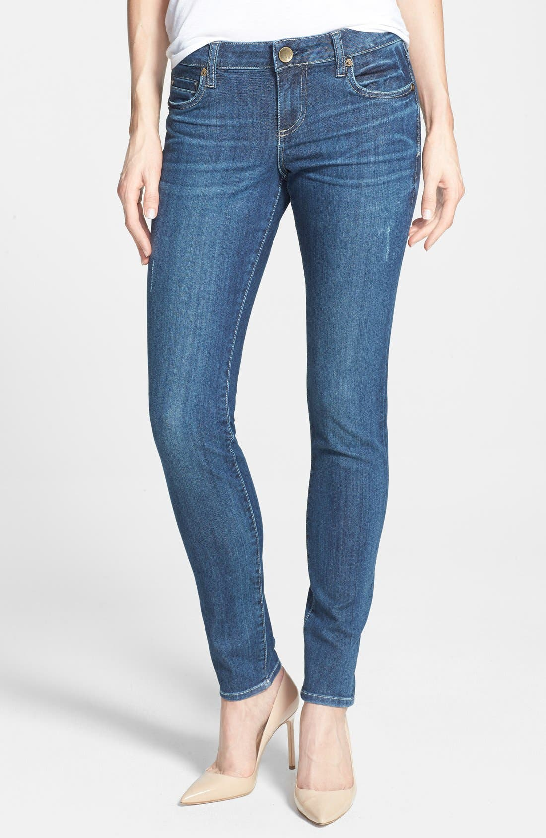 Alternate Image 1 Selected - KUT from the Kloth 'Mia' Stretch Skinny Jeans (Effect) (Regular & Petite)