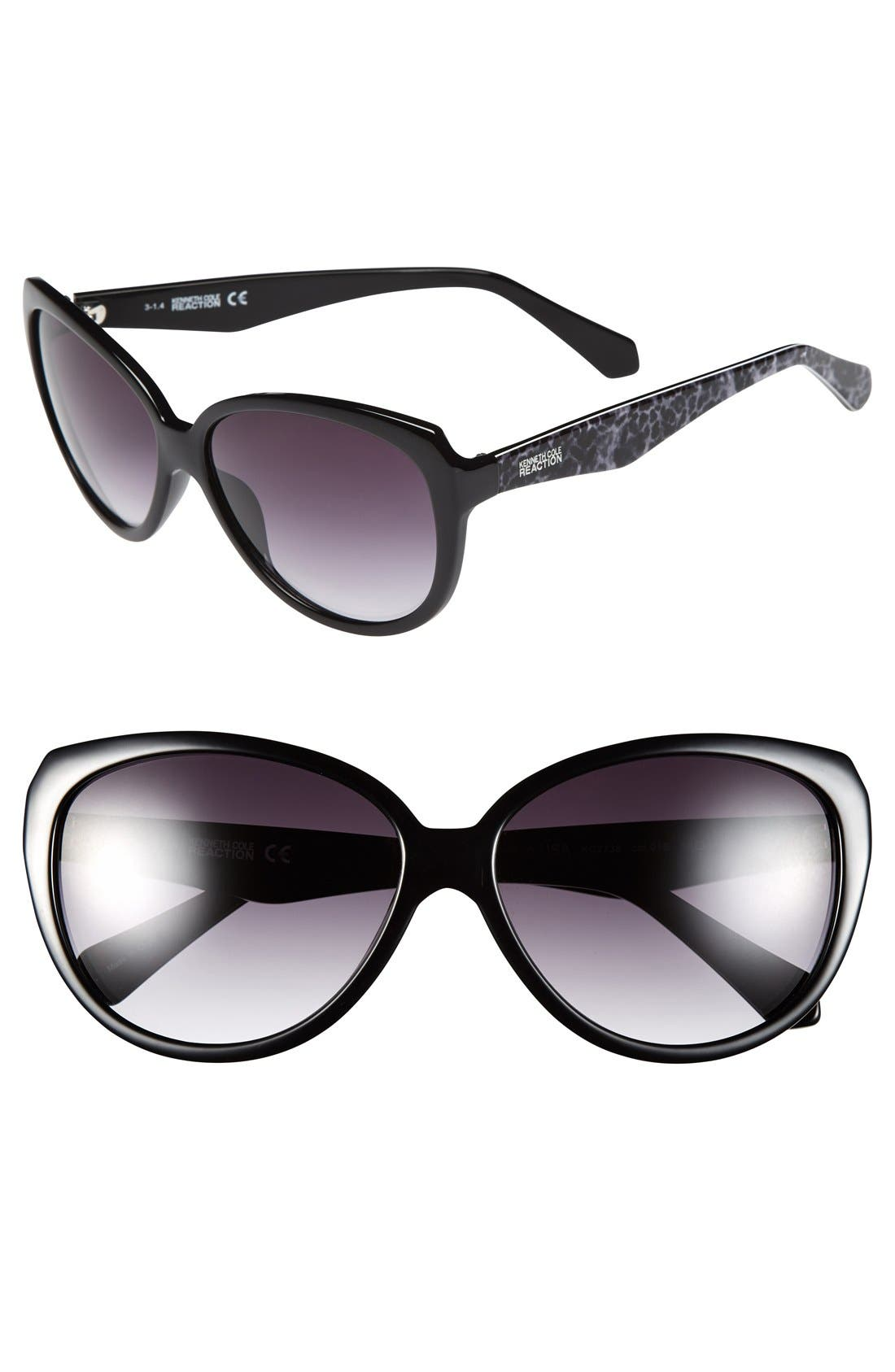 Main Image - Kenneth Cole Reaction 60mm Cat Eye Sunglasses