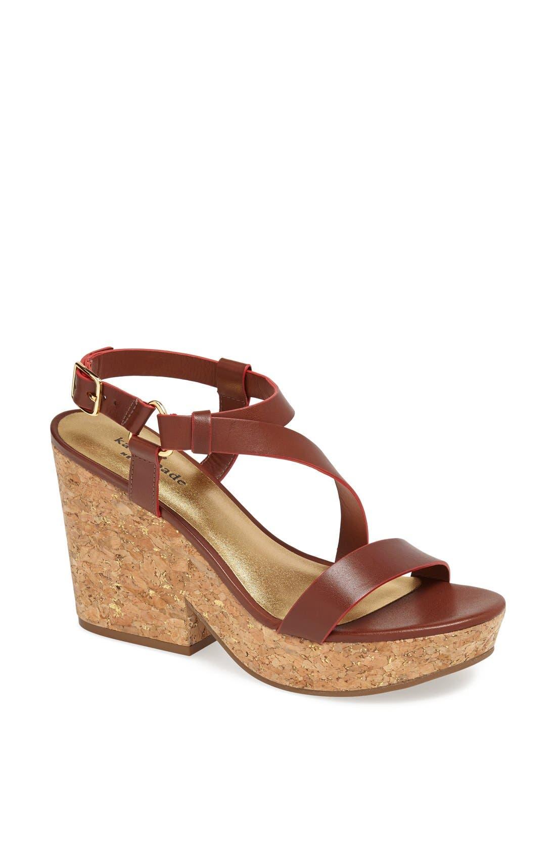 Alternate Image 1 Selected - kate spade new york 'viex' wedge sandal