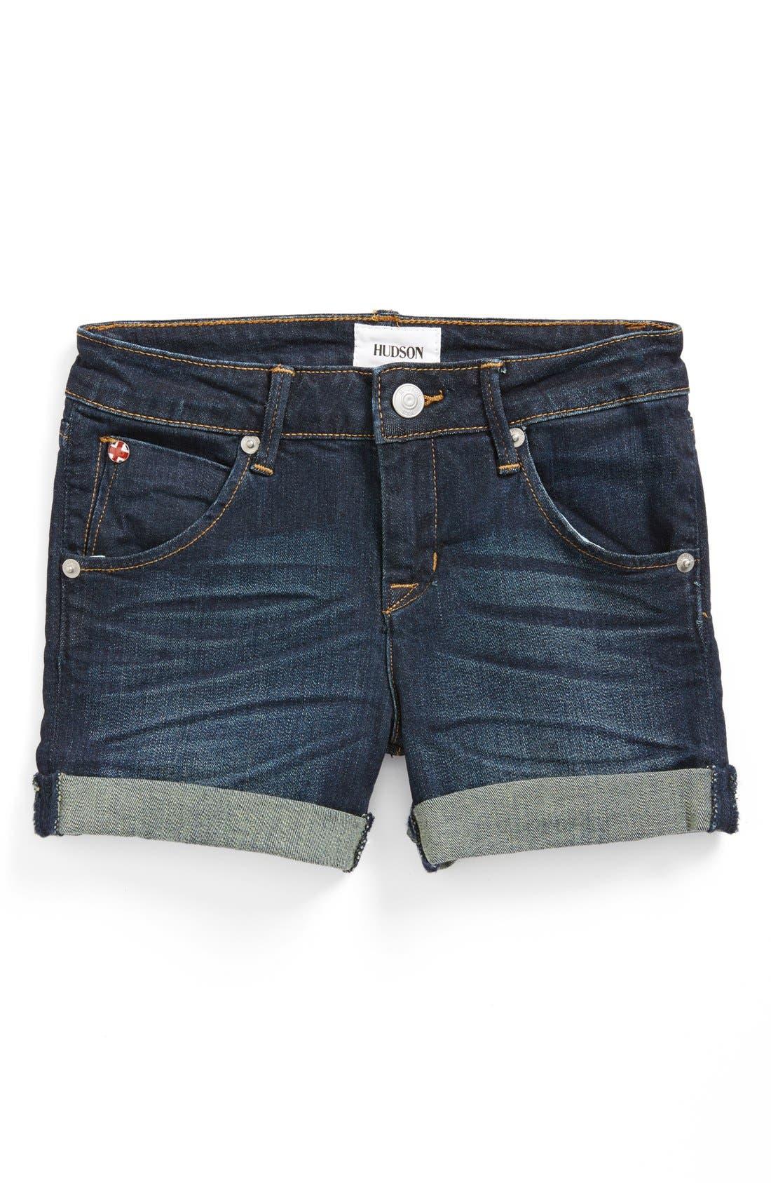 Alternate Image 2  - Hudson Kids Roll Cuff Shorts (Little Girls)
