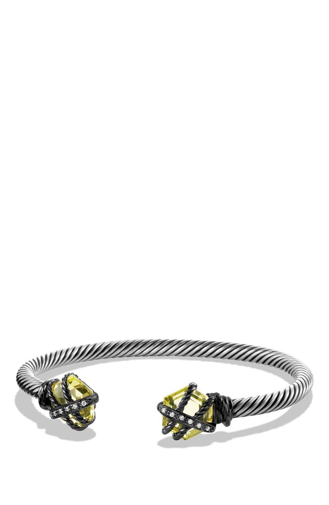 Alternate Image 1 Selected - David Yurman 'Cable Wrap' Bracelet with Lemon Citrine and Diamonds