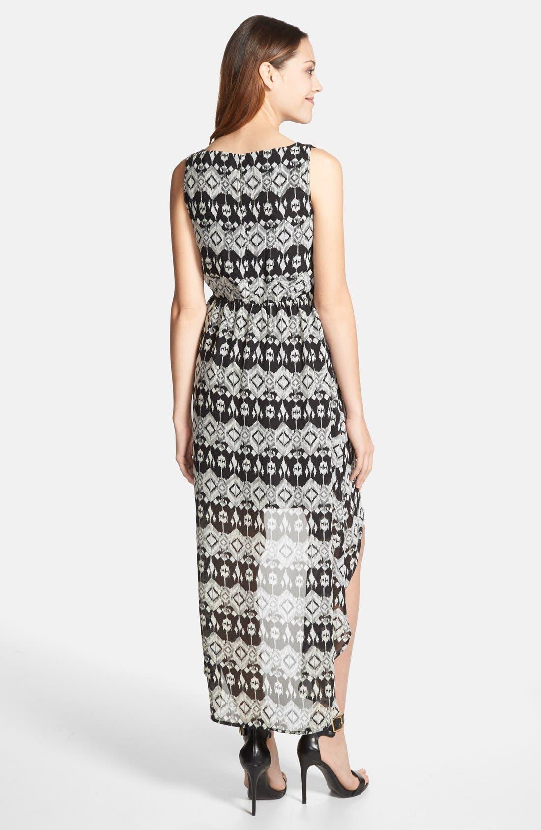 Alternate Image 2  - Olive & Oak Ikat Print High/Low Dress