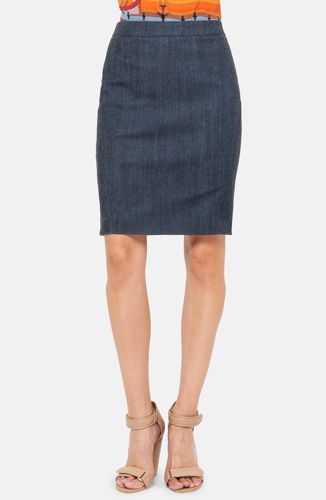 Alternate Image 1 Selected - Akris punto Denim Pencil Skirt