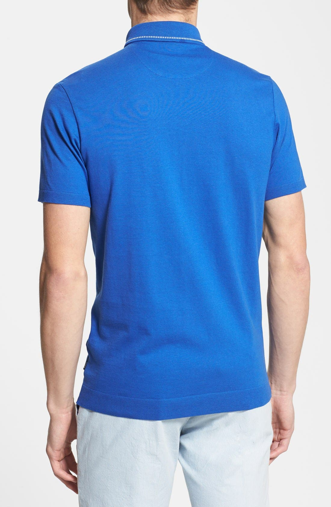 Alternate Image 2  - Ted Baker London 'Rosbowl' Solid Knit Polo
