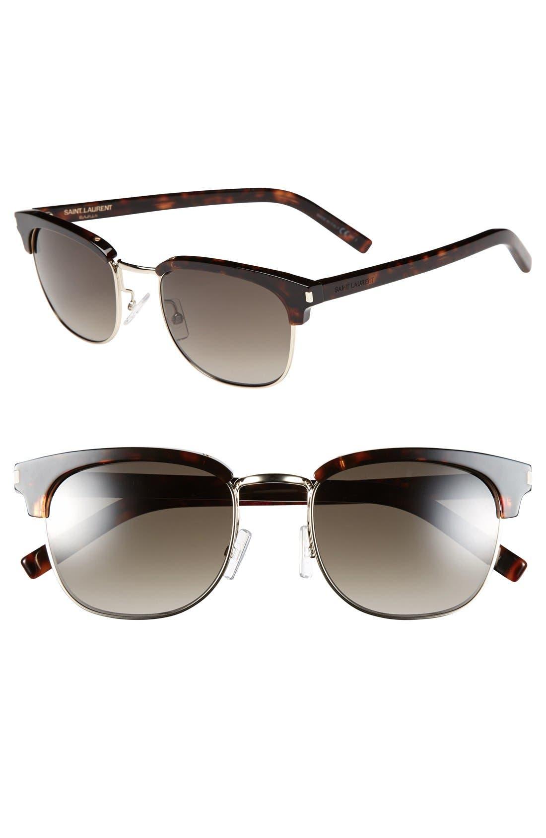 Main Image - Saint Laurent 52mm Retro Sunglasses