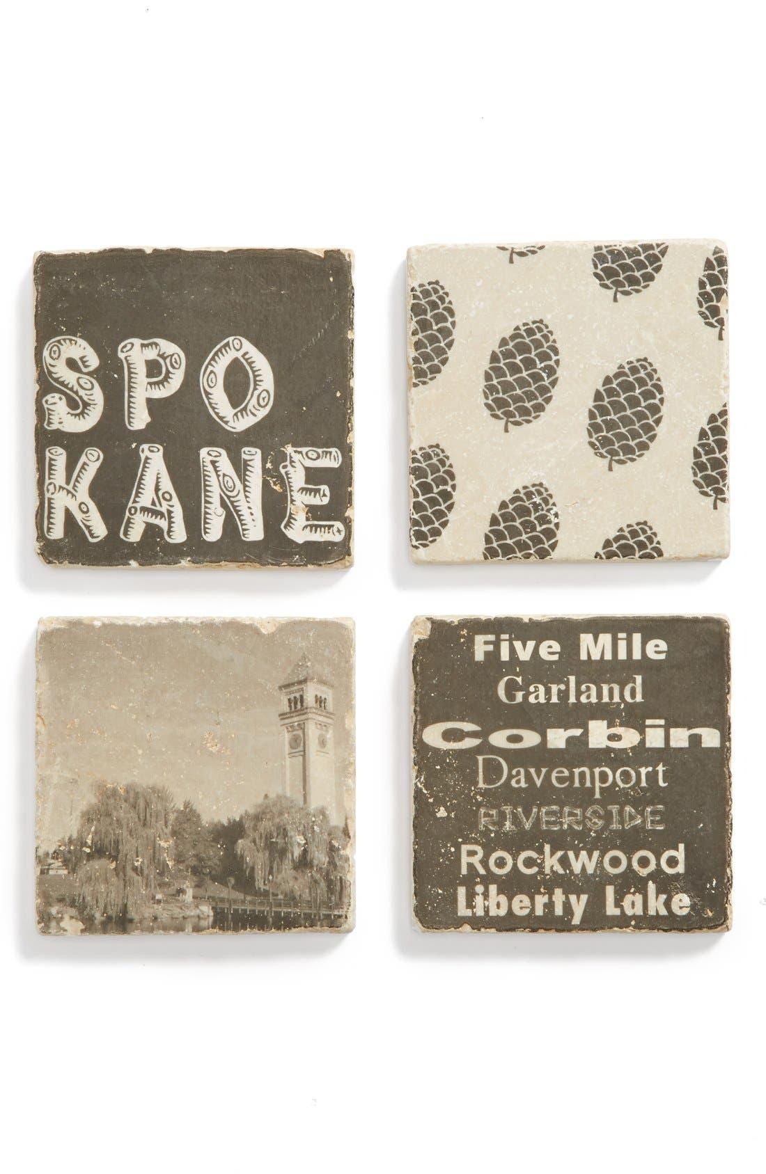 Alternate Image 1 Selected - 'City Pride' Marble Coasters (Set of 4)