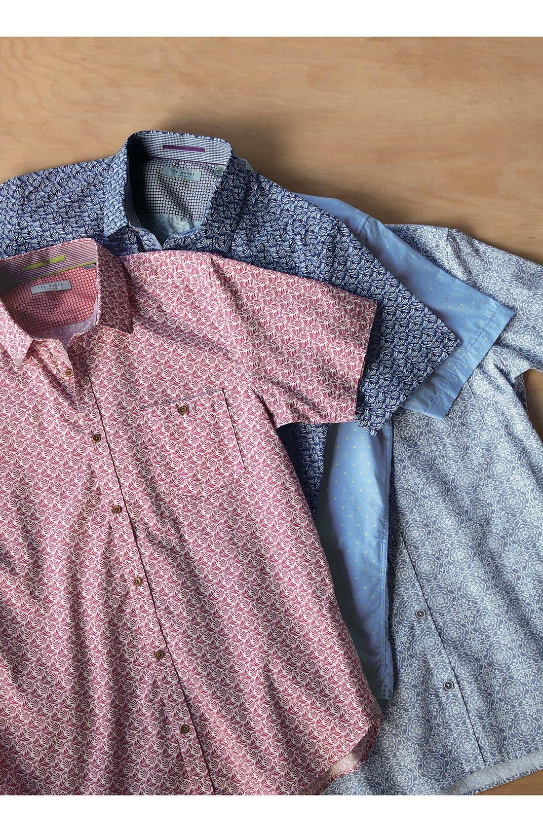 Alternate Image 6  - Ted Baker London 'Yurtamp' Short Sleeve Print Sport Shirt