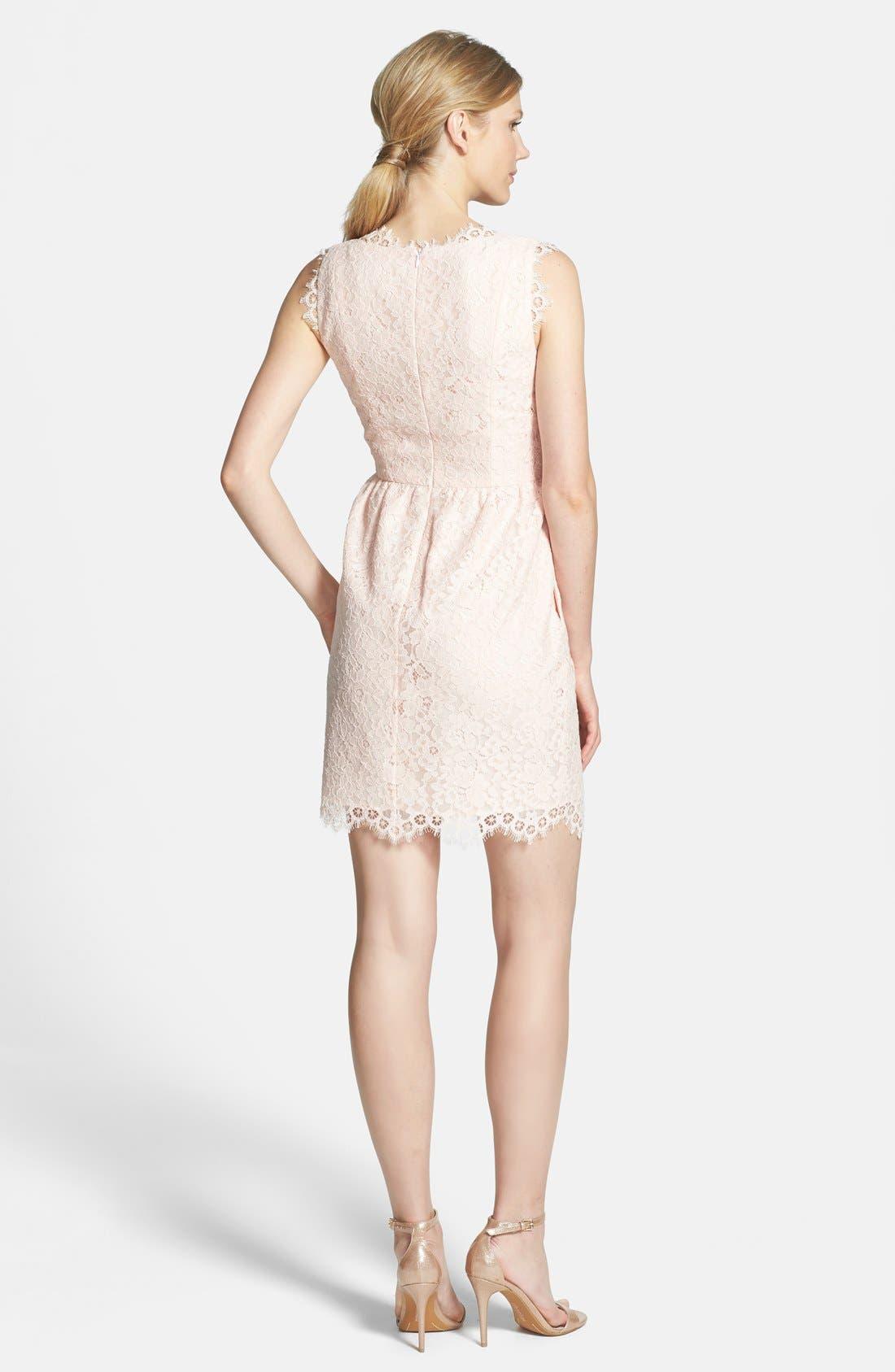 Alternate Image 2  - Shoshanna 'Sierra' Lace Fit & Flare Dress