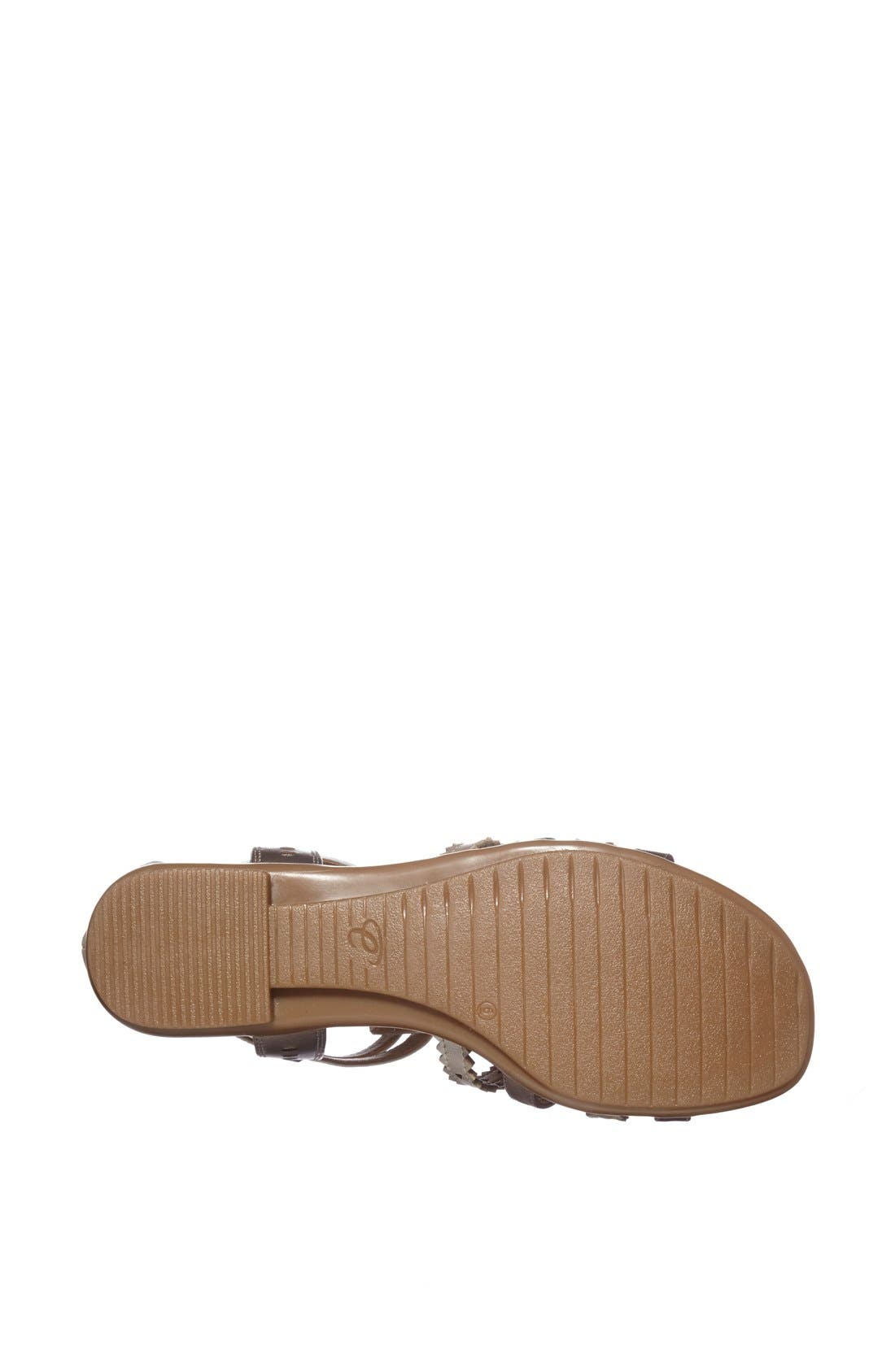 Alternate Image 4  - Easy Spirit 'e360 - Karelly' Pinked & Perforated Leather Back Zip Sandal (Women)