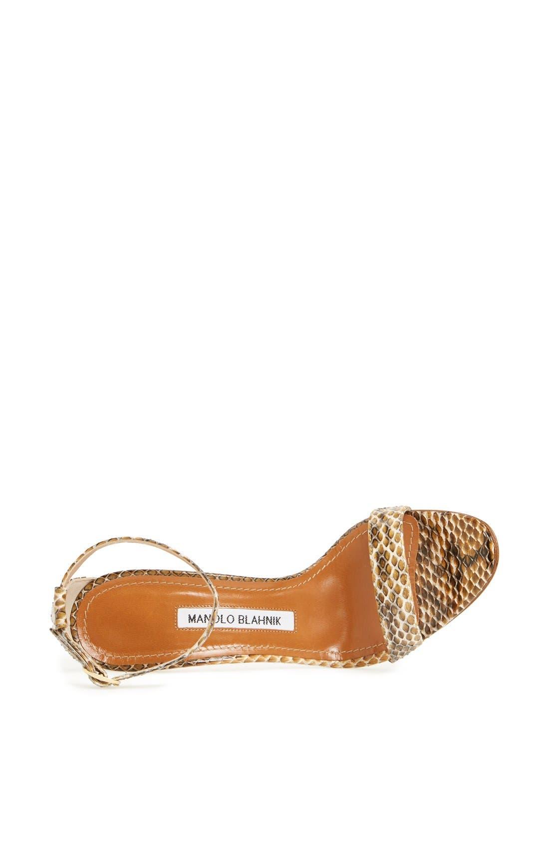 Alternate Image 3  - Manolo Blahnik 'Chaos' Cuff Genuine Snakeskin Sandal