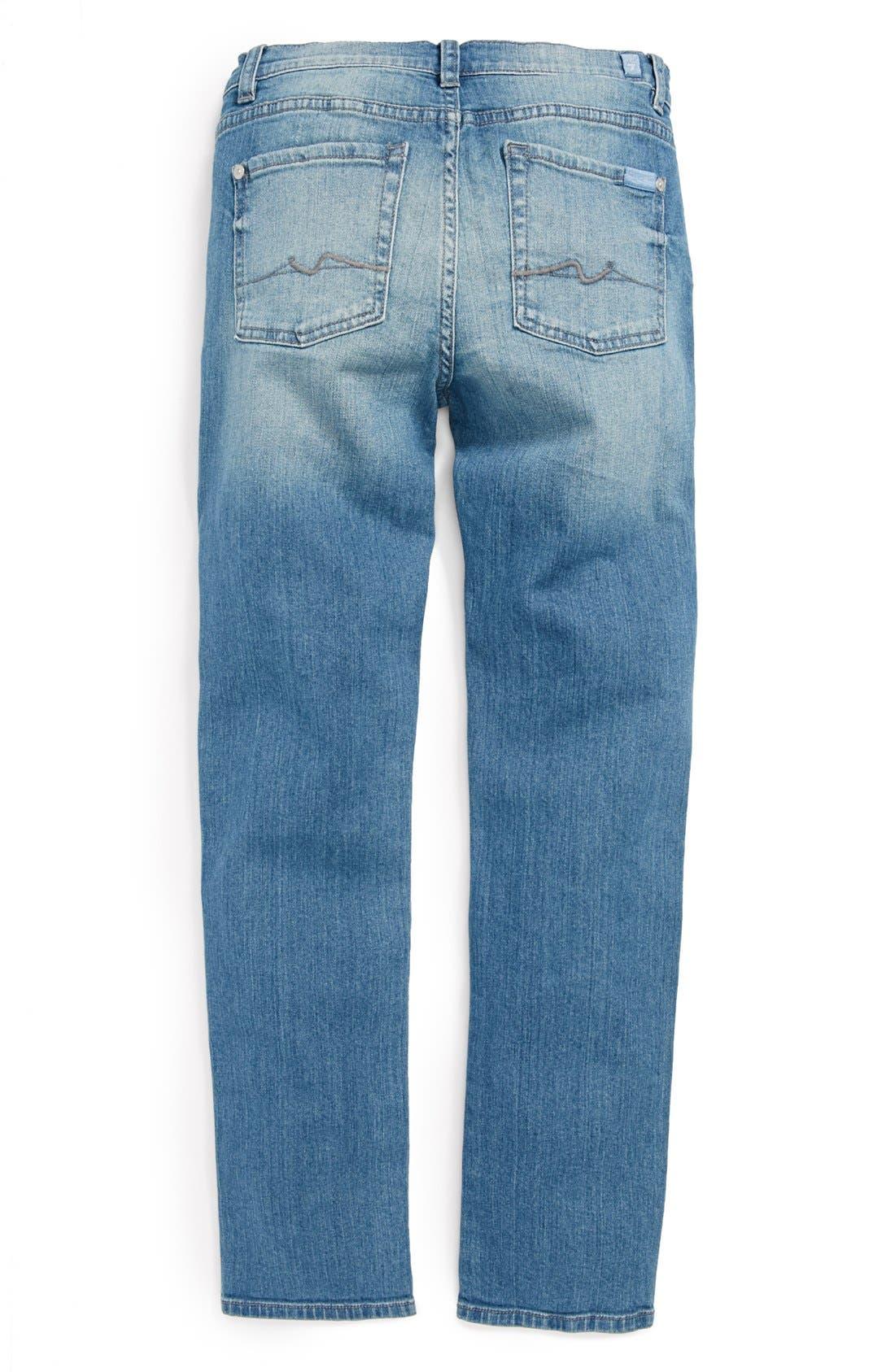 Alternate Image 1 Selected - 7 For All Mankind® 'Slimmy' Slim Fit Jeans (Big Boys)