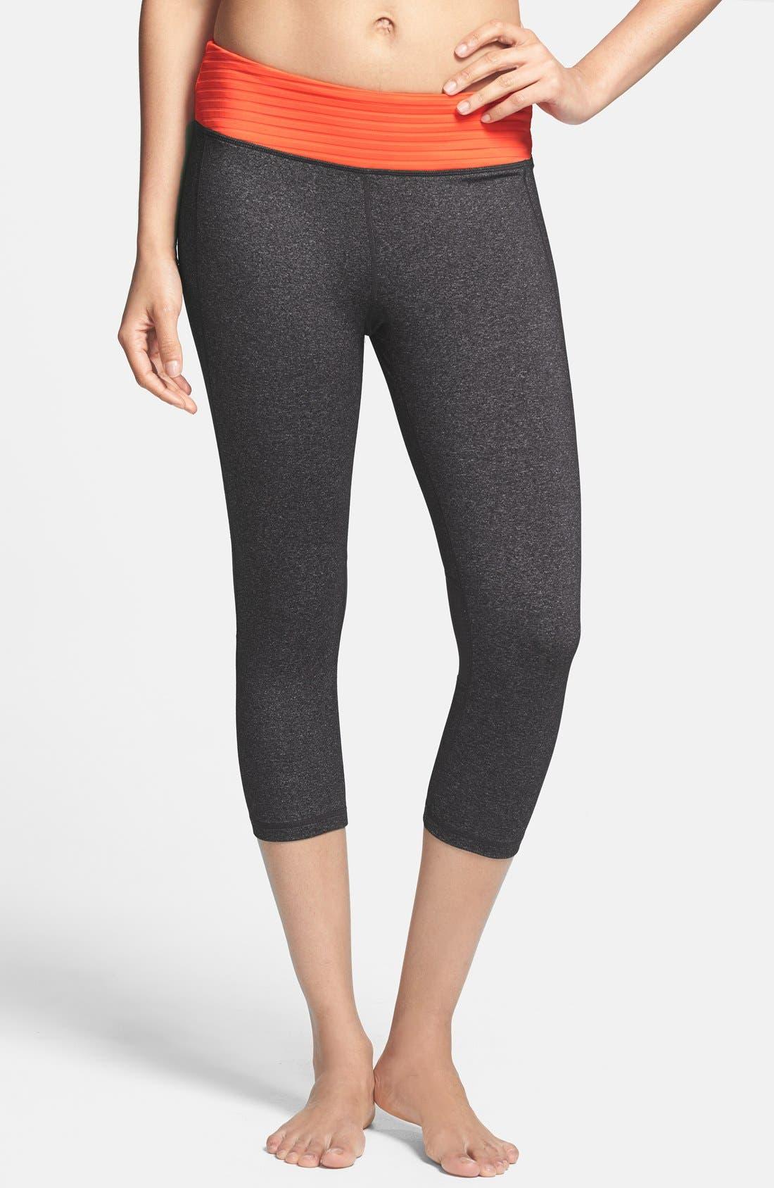 Alternate Image 1 Selected - MSP by Miraclesuit® Miraslim Stripe Capri Pants