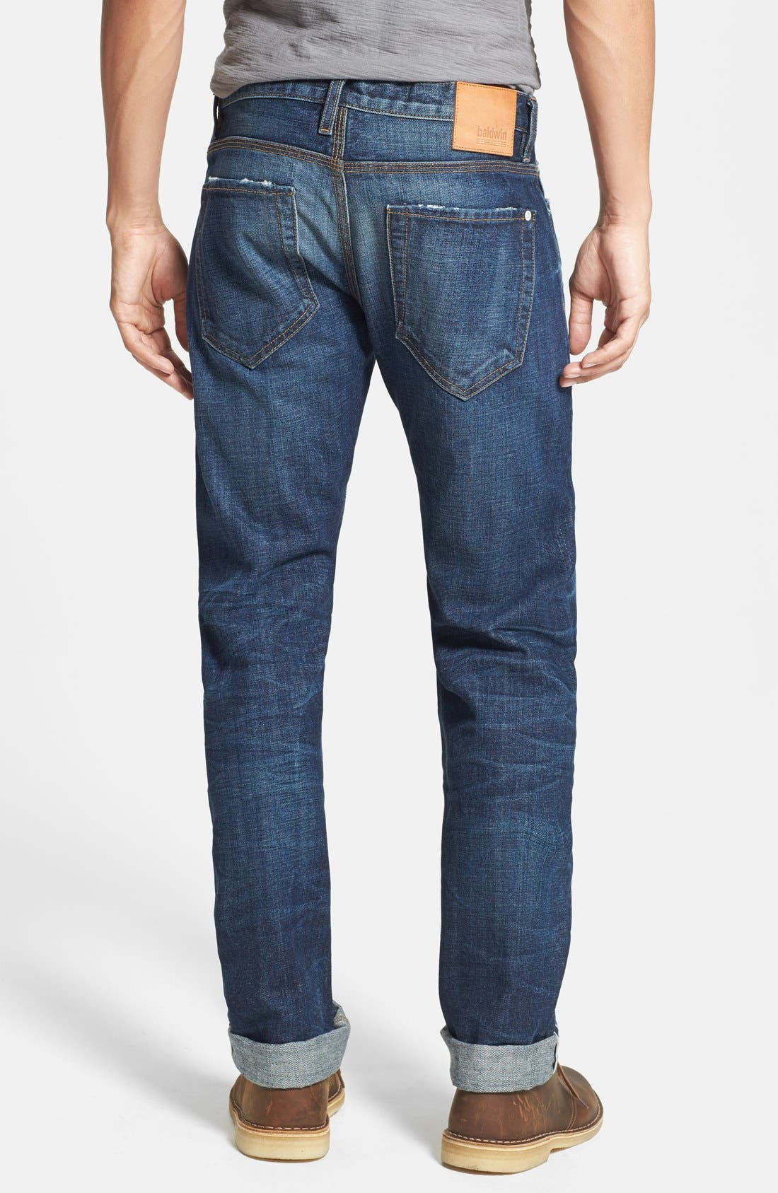 Alternate Image 2  - Baldwin 'Reed' Straight Leg Selvedge Jeans (Classic No. 5)