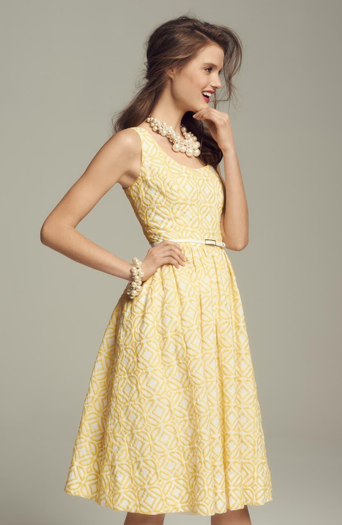 Alternate Image 1 Selected - Donna Morgan Jacquard Dress & Accessories