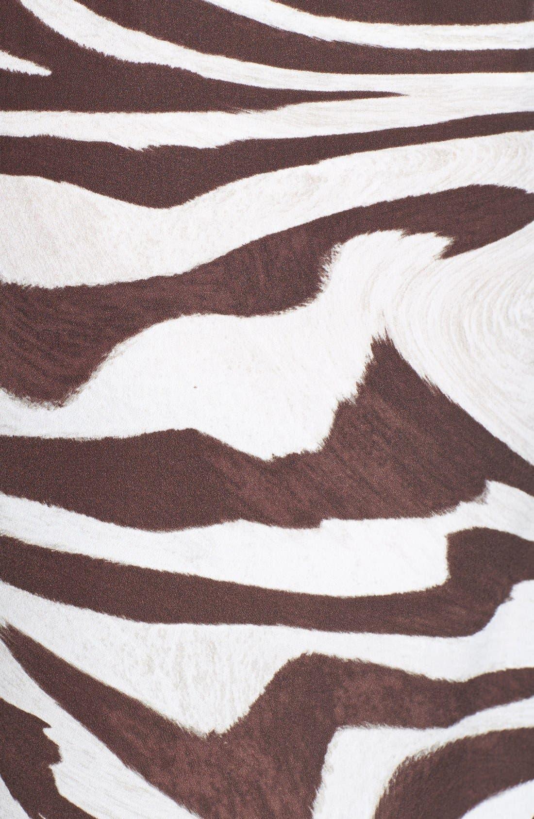 Alternate Image 3  - MICHAEL Michael Kors Zebra Print Wide Leg Pants (Regular & Petite)