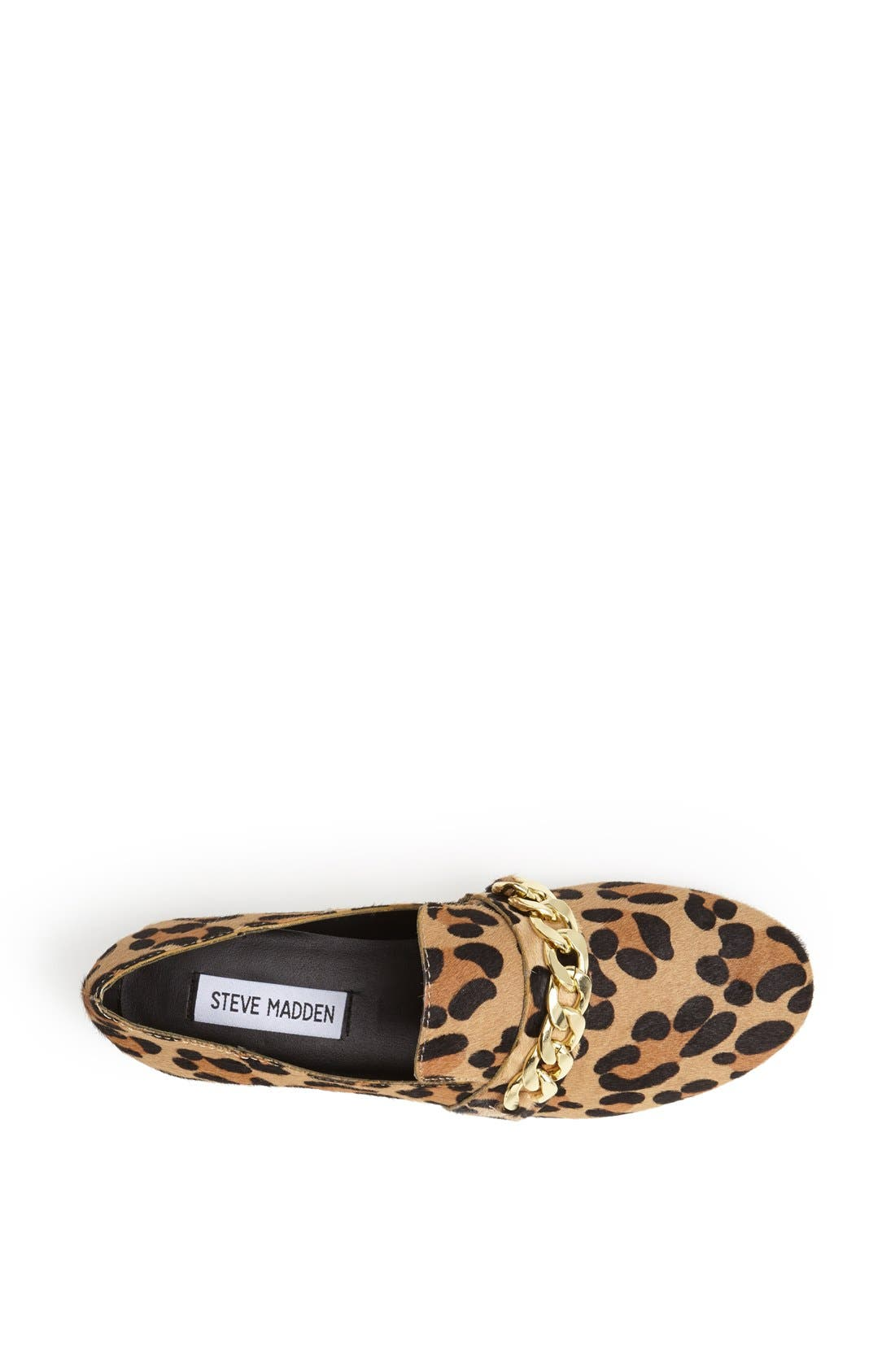 Alternate Image 3  - Steve Madden 'Chaingng' Calf Hair Flat