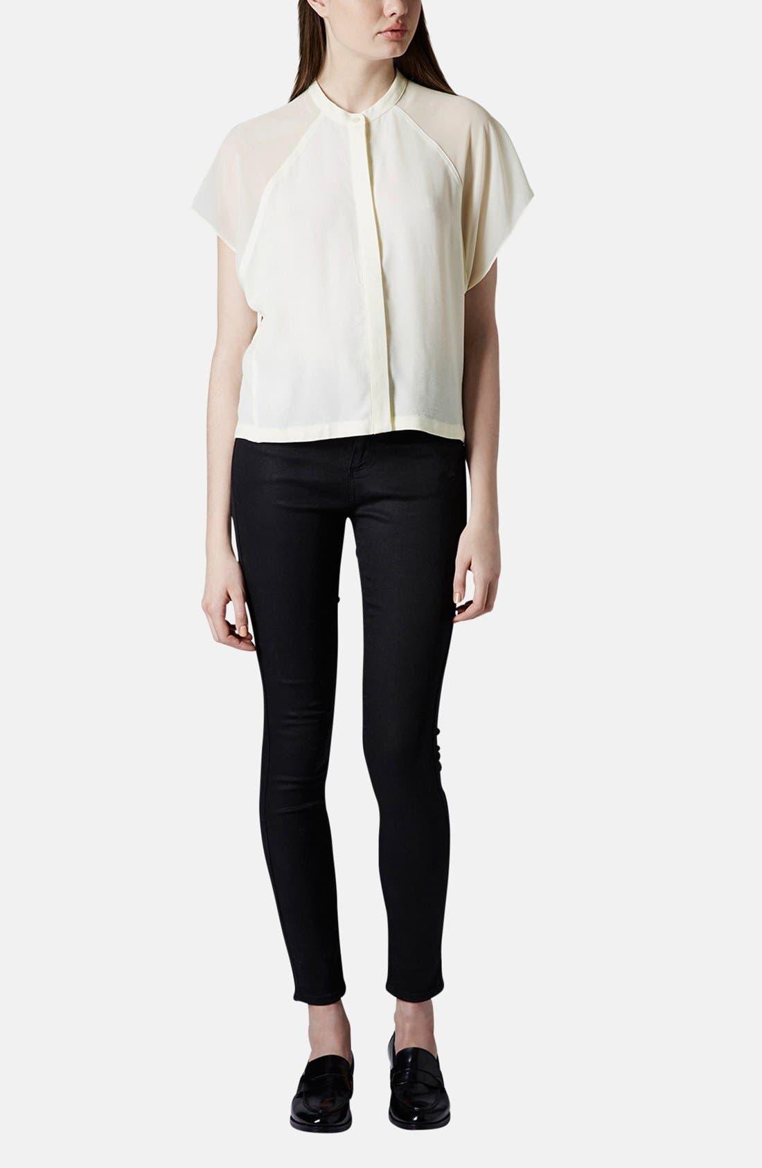 Alternate Image 5  - Topshop Sheer Raglan Sleeve Shirt