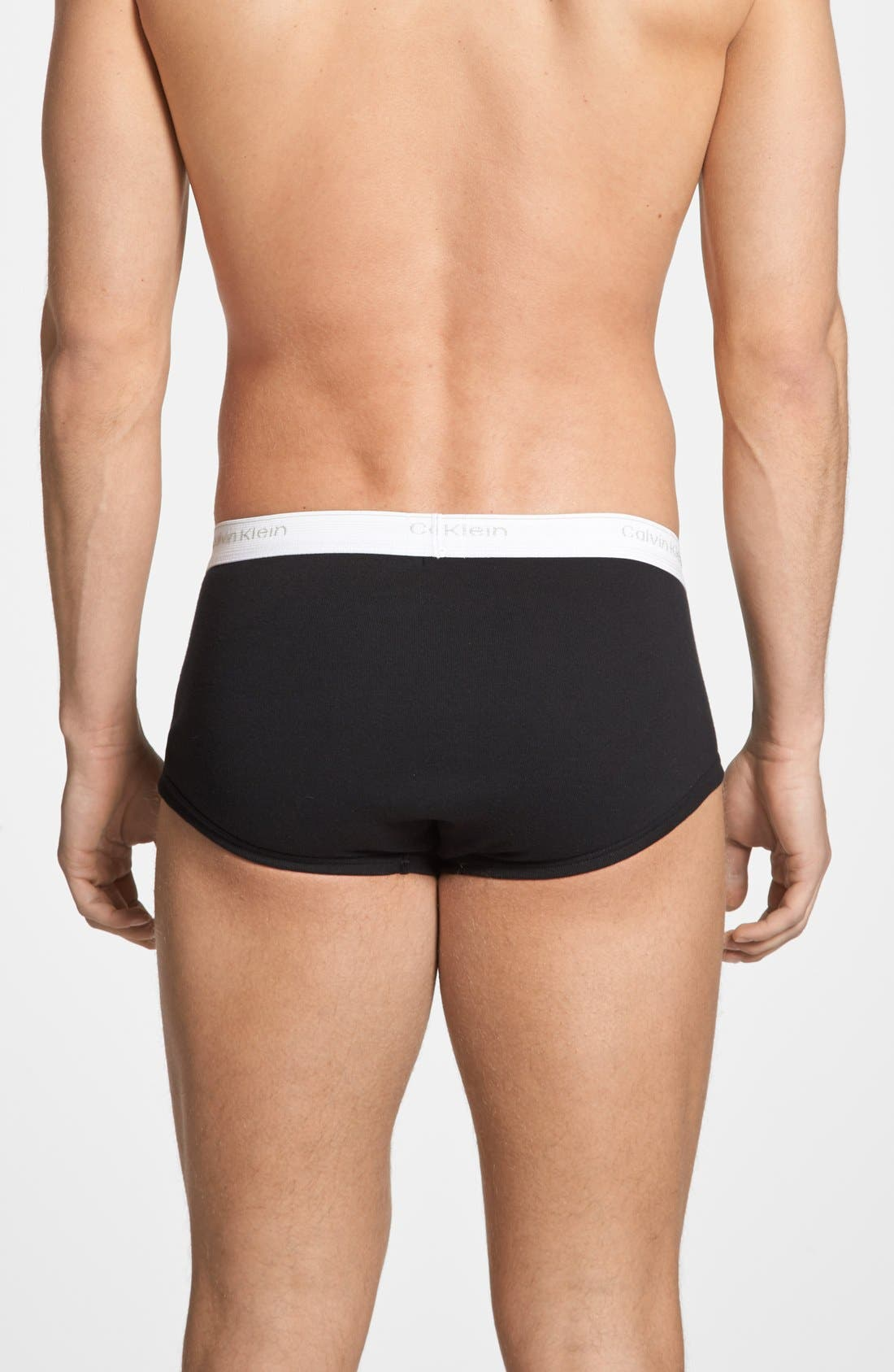 Alternate Image 2  - Calvin Klein 'U1000' Cotton Briefs (Assorted 3-Pack)
