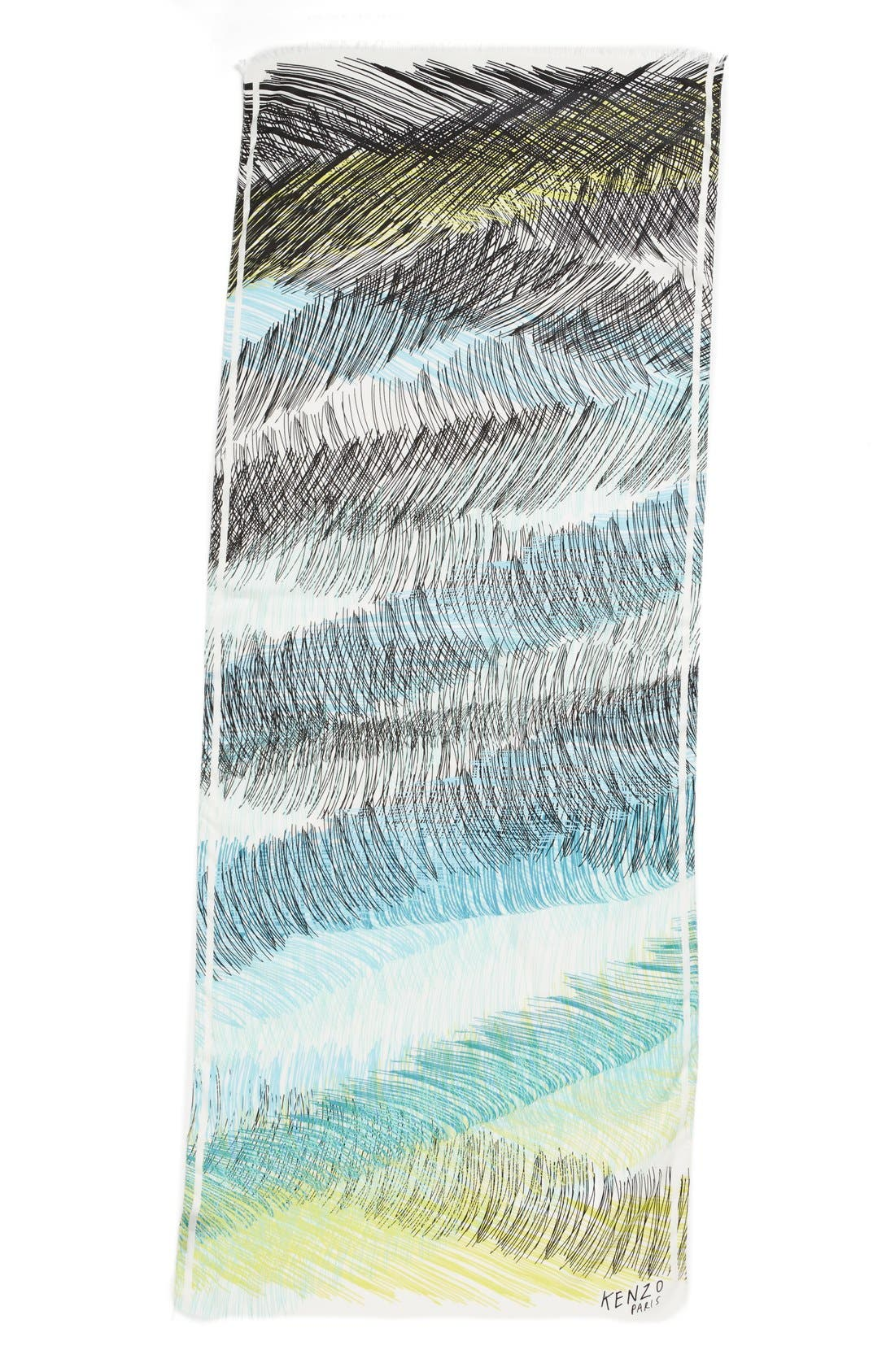 Alternate Image 2  - KENZO 'Scribble Stripes' Scarf