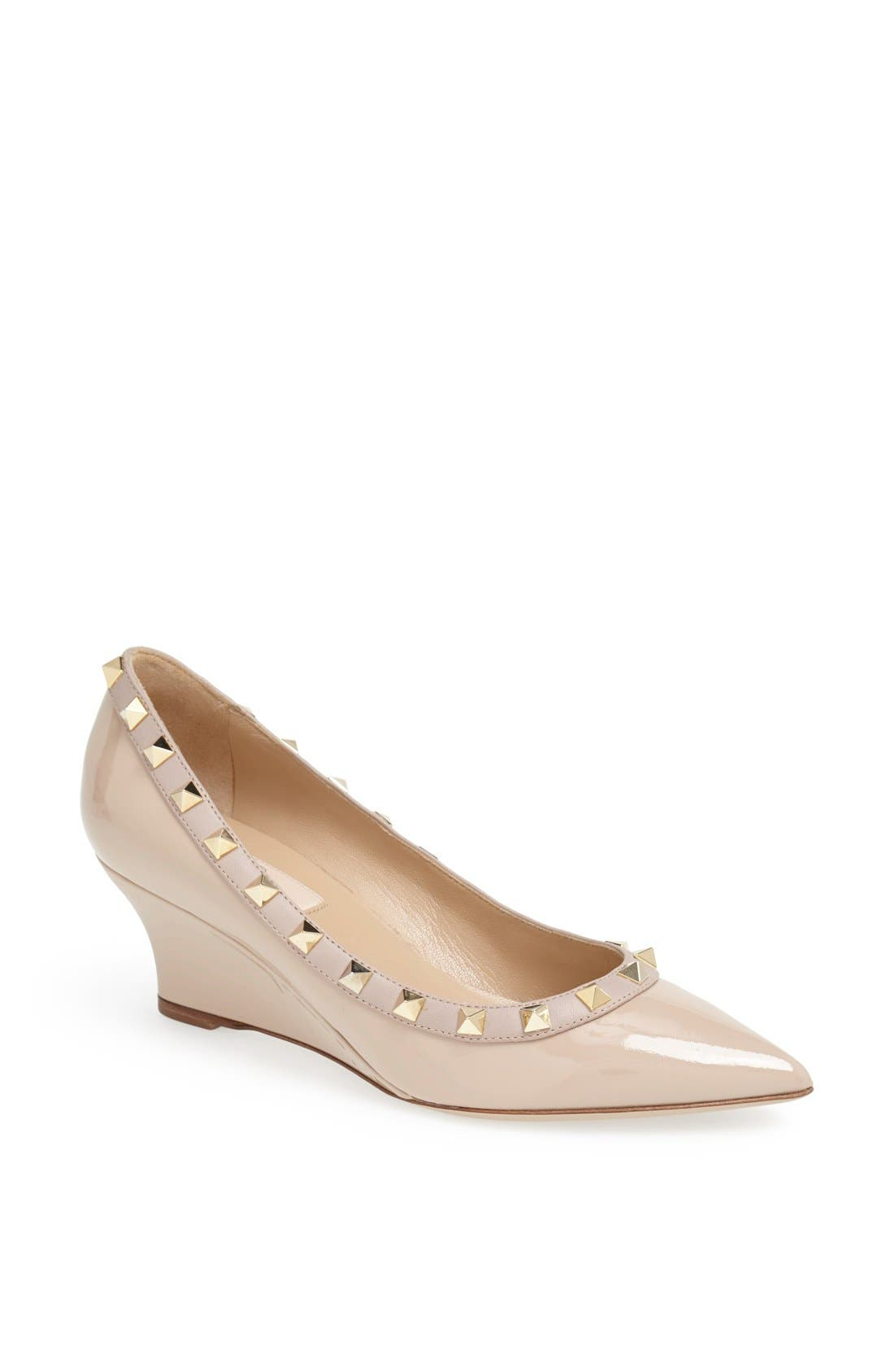 Alternate Image 1 Selected - Valentino 'Rockstud' Wedge