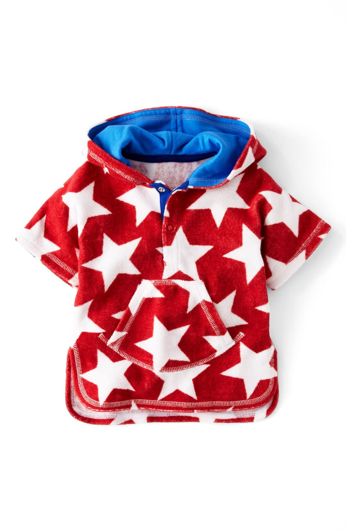 Alternate Image 1 Selected - Mini Boden 'Towelling' Poncho (Baby)
