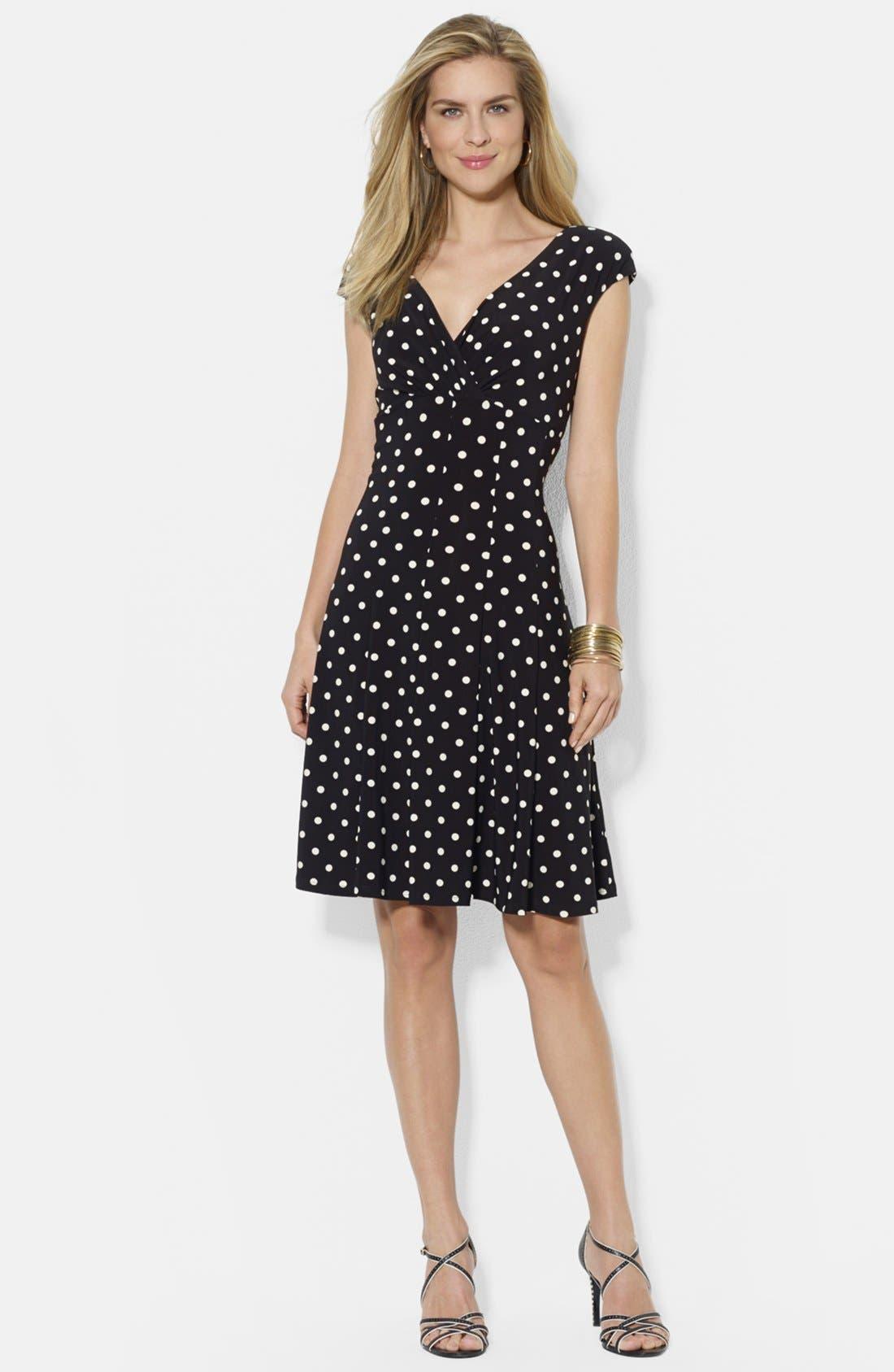 Alternate Image 1 Selected - Lauren Ralph Lauren Print Matte Jersey Dress