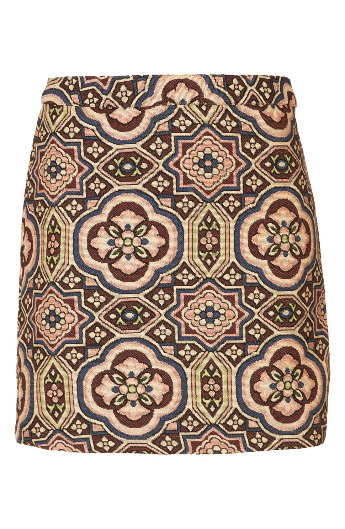 Alternate Image 3  - Topshop Folk Jacquard A-Line Skirt