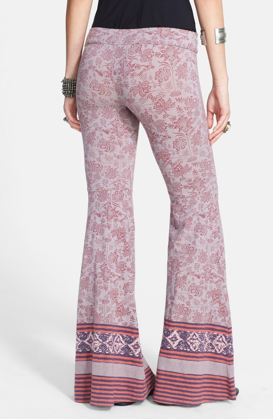 Alternate Image 2  - Free People Print Flare Leg Pants