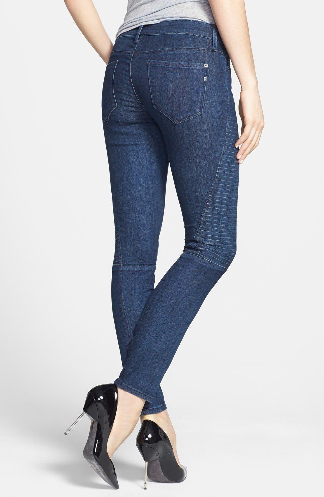 Alternate Image 2  - Genetic 'Soma' Stitch Detail Skinny Jeans (Apex)