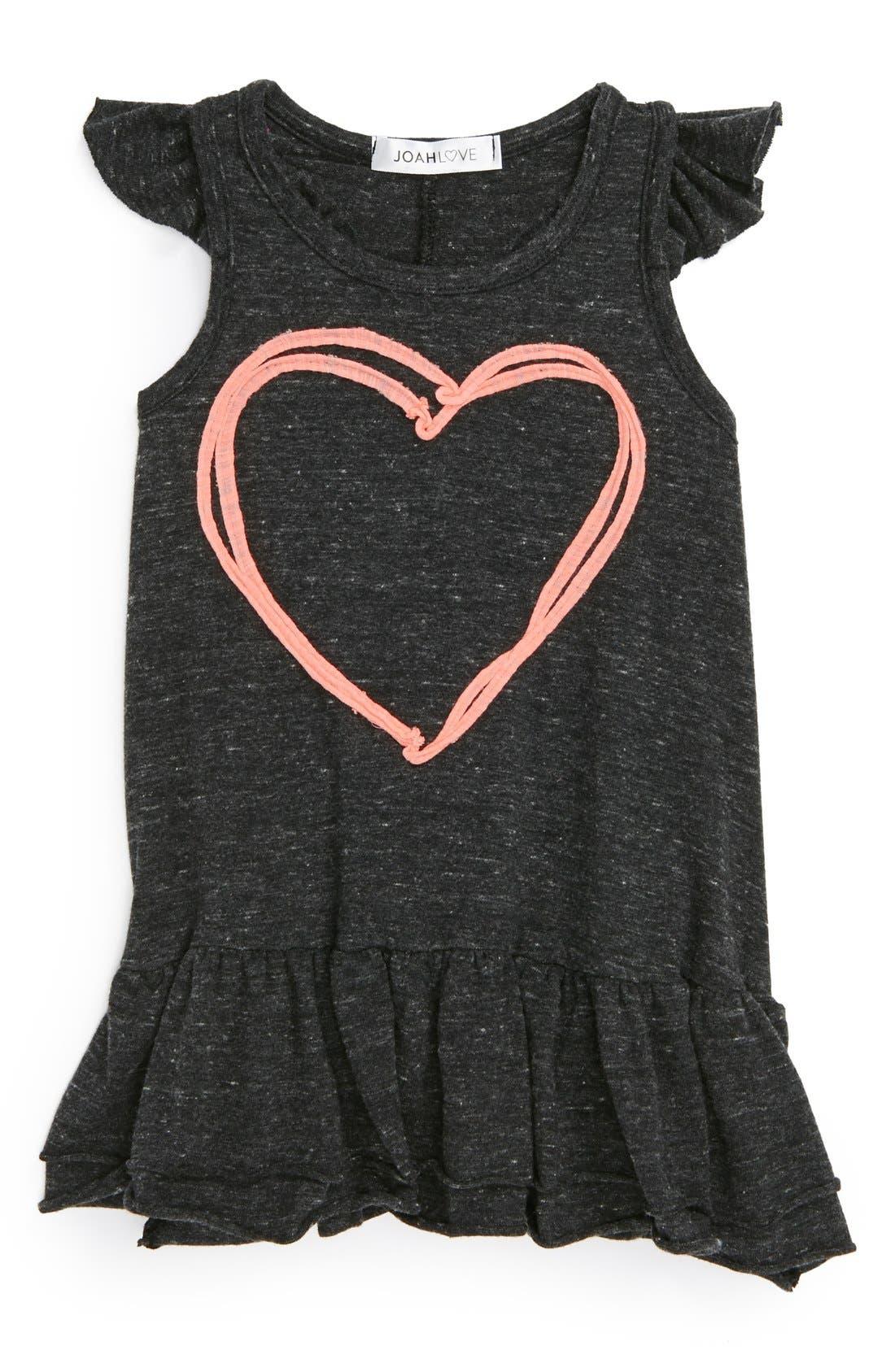 Main Image - Joah Love 'Heart' Ruffle Dress (Baby Girls)