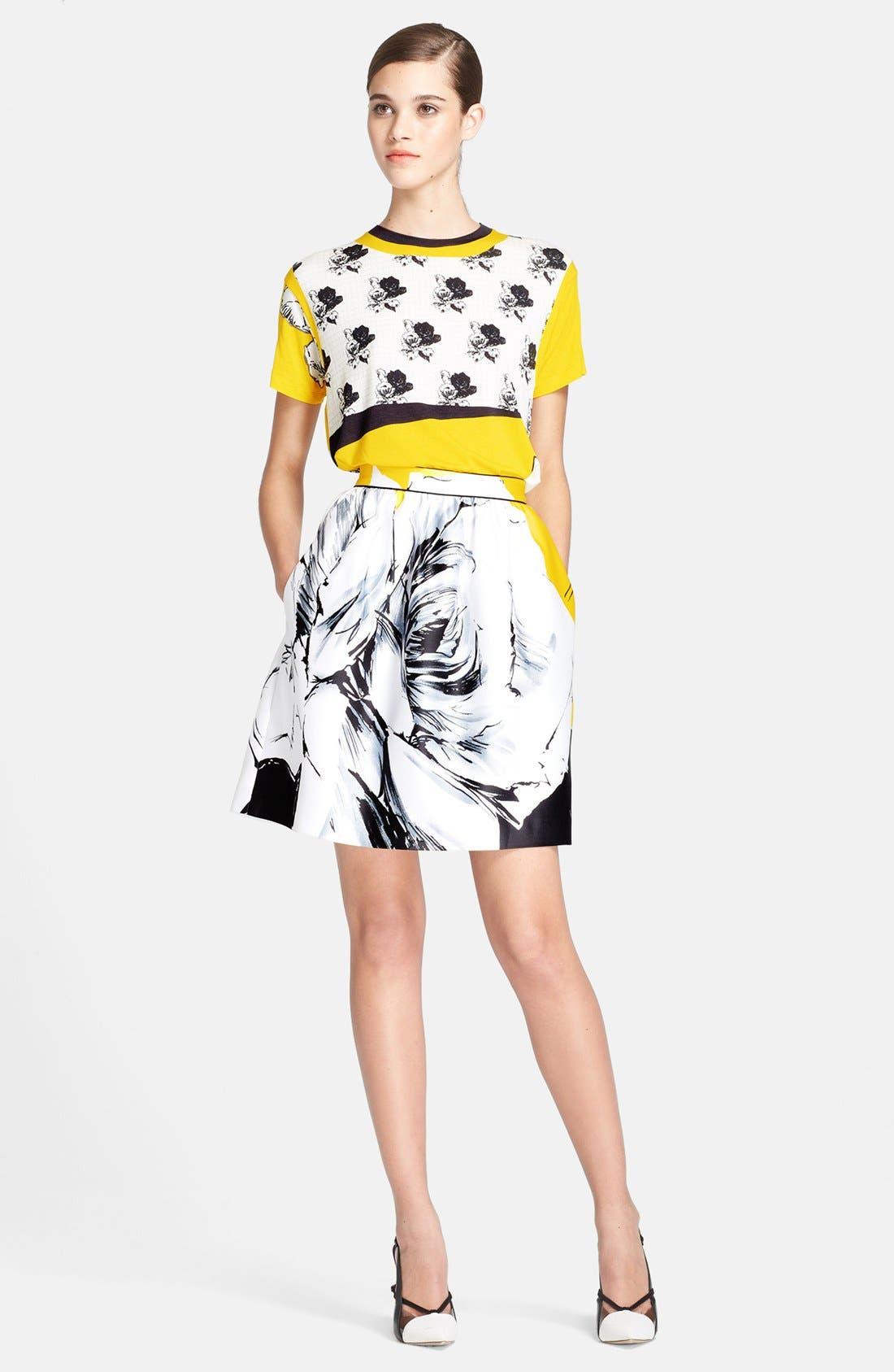 Alternate Image 3  - Prabal Gurung Rose Print Skirt