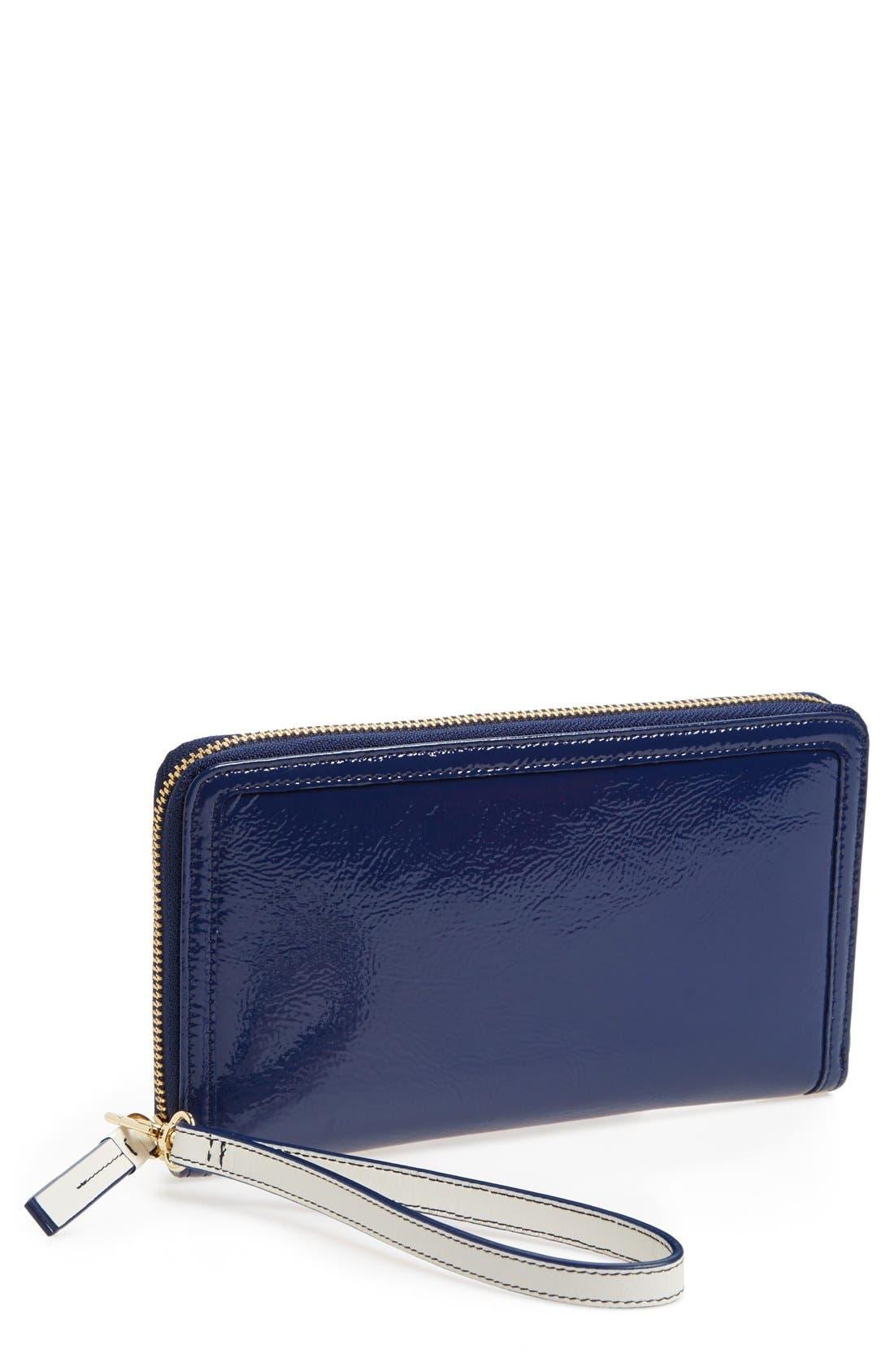 Main Image - Halogen® Patent Leather Zip-Around Wallet