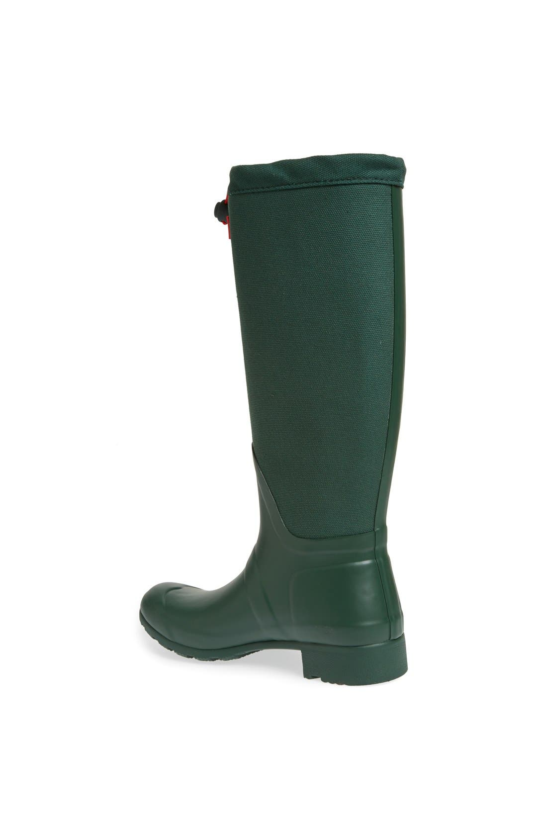 Alternate Image 2  - Hunter 'Tour' Packable Canvas Rain Boot (Women)