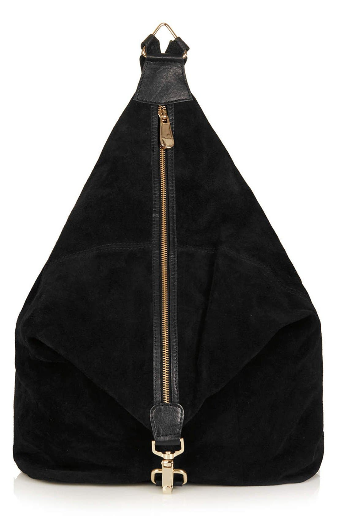 Alternate Image 1 Selected - Topshop Clipped Suede Backpack