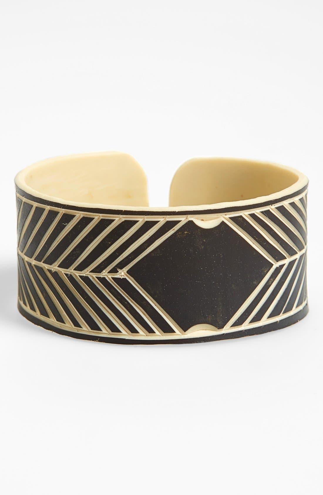 Main Image - The Base Project 'Skeleton Coast' Etched Cuff Bracelet