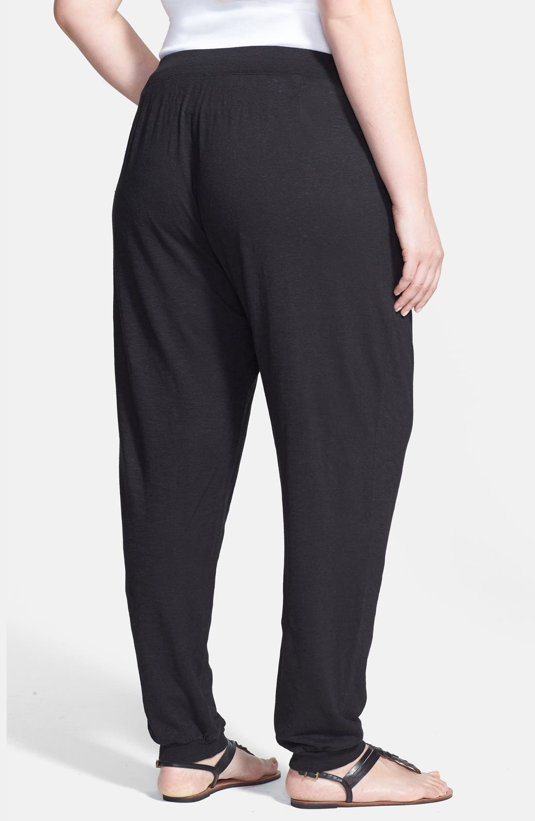 Alternate Image 2  - Eileen Fisher Pleat Front Knit Ankle Pants (Plus Size)