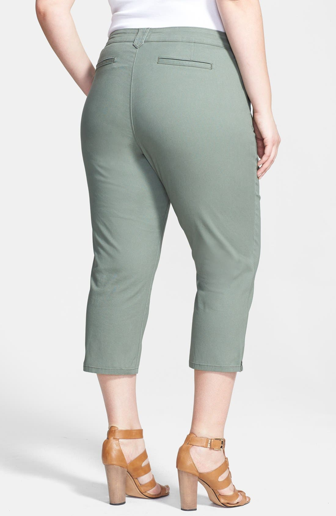Alternate Image 2  - NYDJ 'Amara' Crop Stretch Cotton Pants (Plus Size)