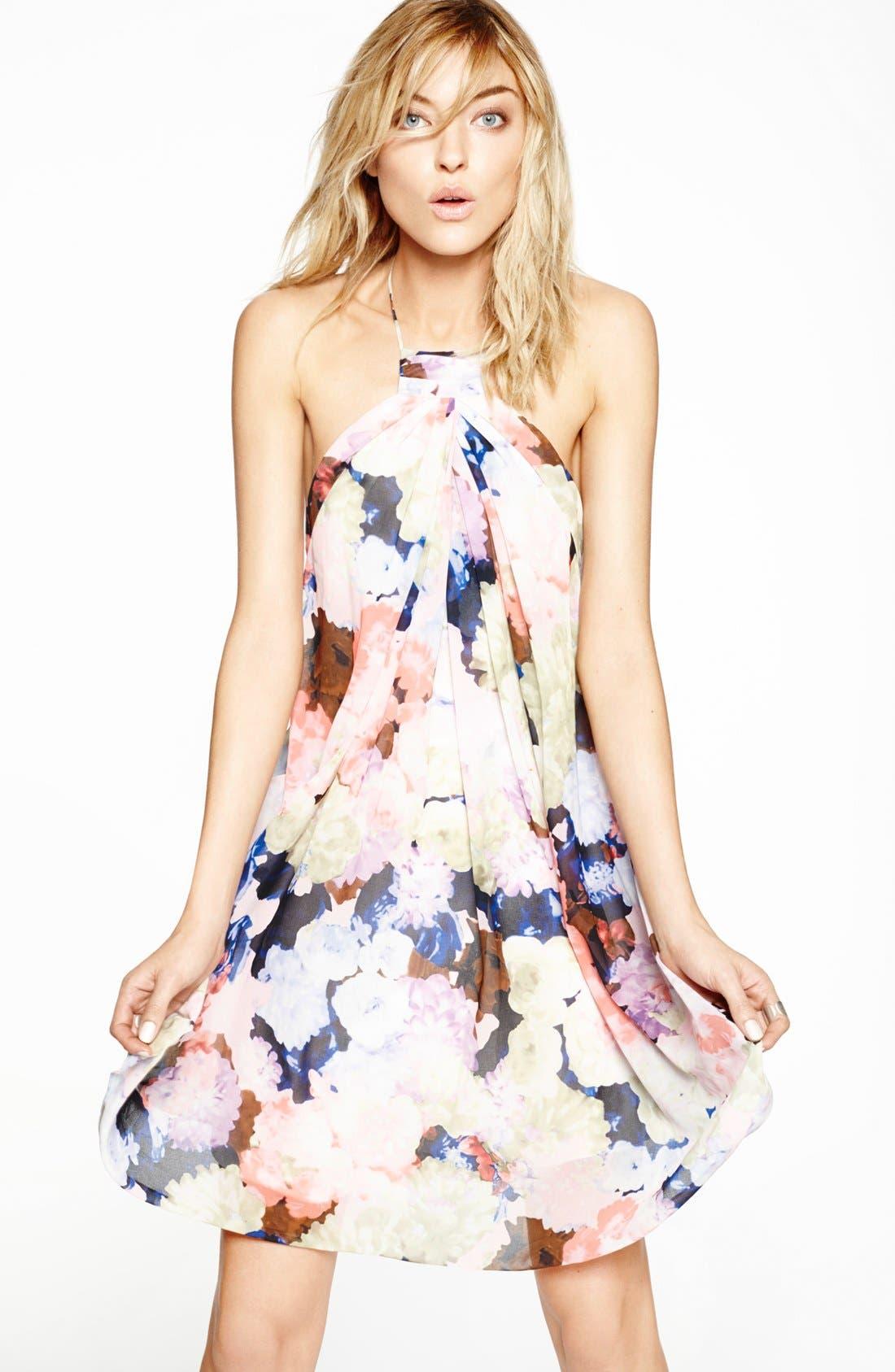 Alternate Image 4  - 1.STATE Floral Print Halter Dress
